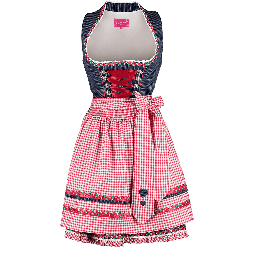 kr ger madl dirndl blau rot kurz g nstig kaufen. Black Bedroom Furniture Sets. Home Design Ideas