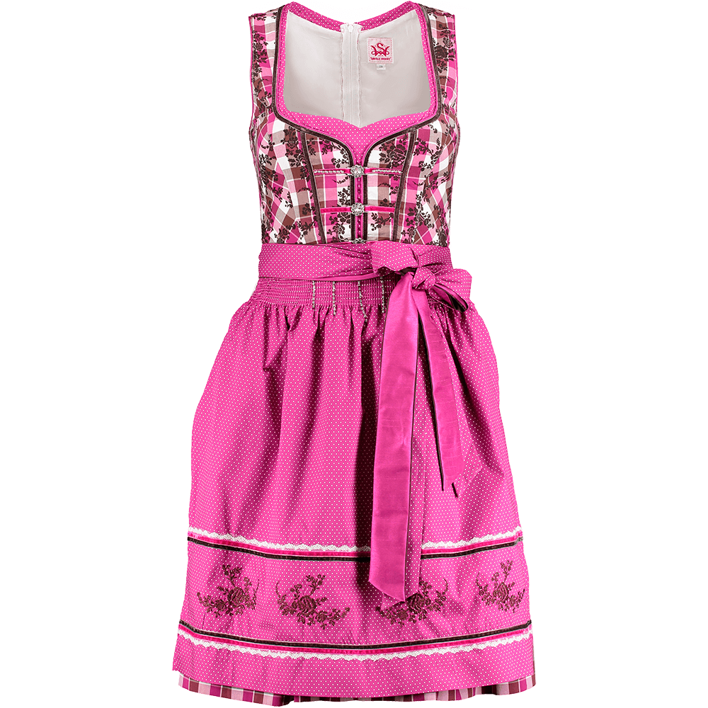 spieth wensky adriane dirndl fuchsia braun kurz. Black Bedroom Furniture Sets. Home Design Ideas