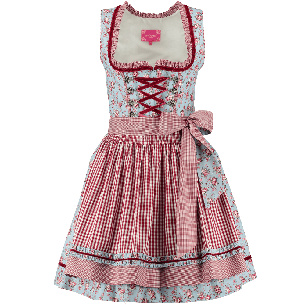 kr ger dirndl rosebouquet 50 er blau rot g nstig kaufen. Black Bedroom Furniture Sets. Home Design Ideas