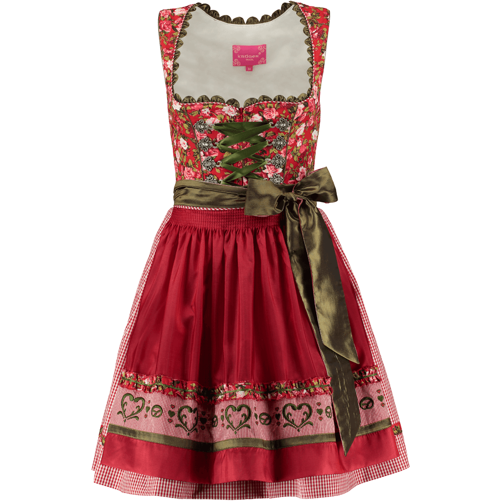 kr ger dirndl dream of roses rot gr n g nstig kaufen. Black Bedroom Furniture Sets. Home Design Ideas