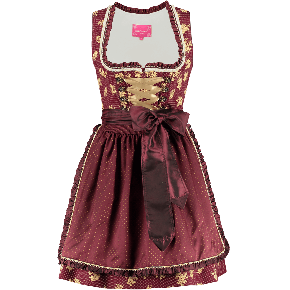 kr ger dirndl rot gold g nstig kaufen. Black Bedroom Furniture Sets. Home Design Ideas