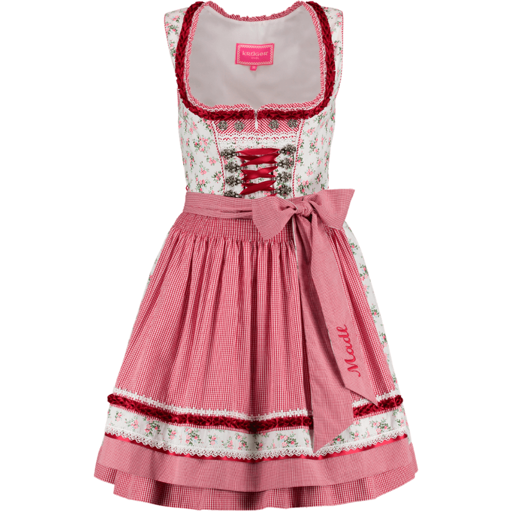 kr ger dirndl sweety rot weiss 50er g nstig kaufen. Black Bedroom Furniture Sets. Home Design Ideas