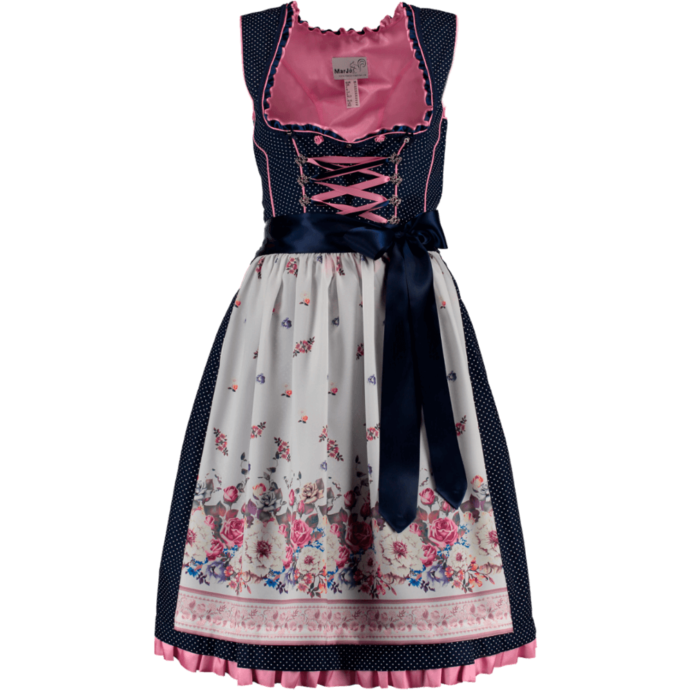marjo mini dirndl tawia ii blau rosa g nstig kaufen. Black Bedroom Furniture Sets. Home Design Ideas