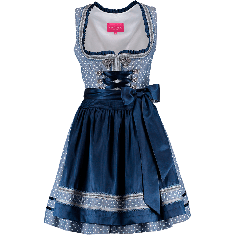 kr ger madl mini dirndl sweetheart blau g nstig kaufen. Black Bedroom Furniture Sets. Home Design Ideas