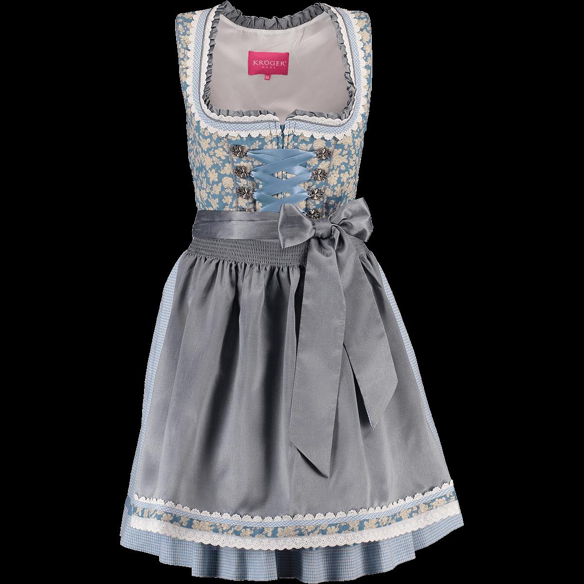 37887d5f5279 Krüger Dirndl kurzes Dirndl Alice blau   eisblau   Alm-Fashion