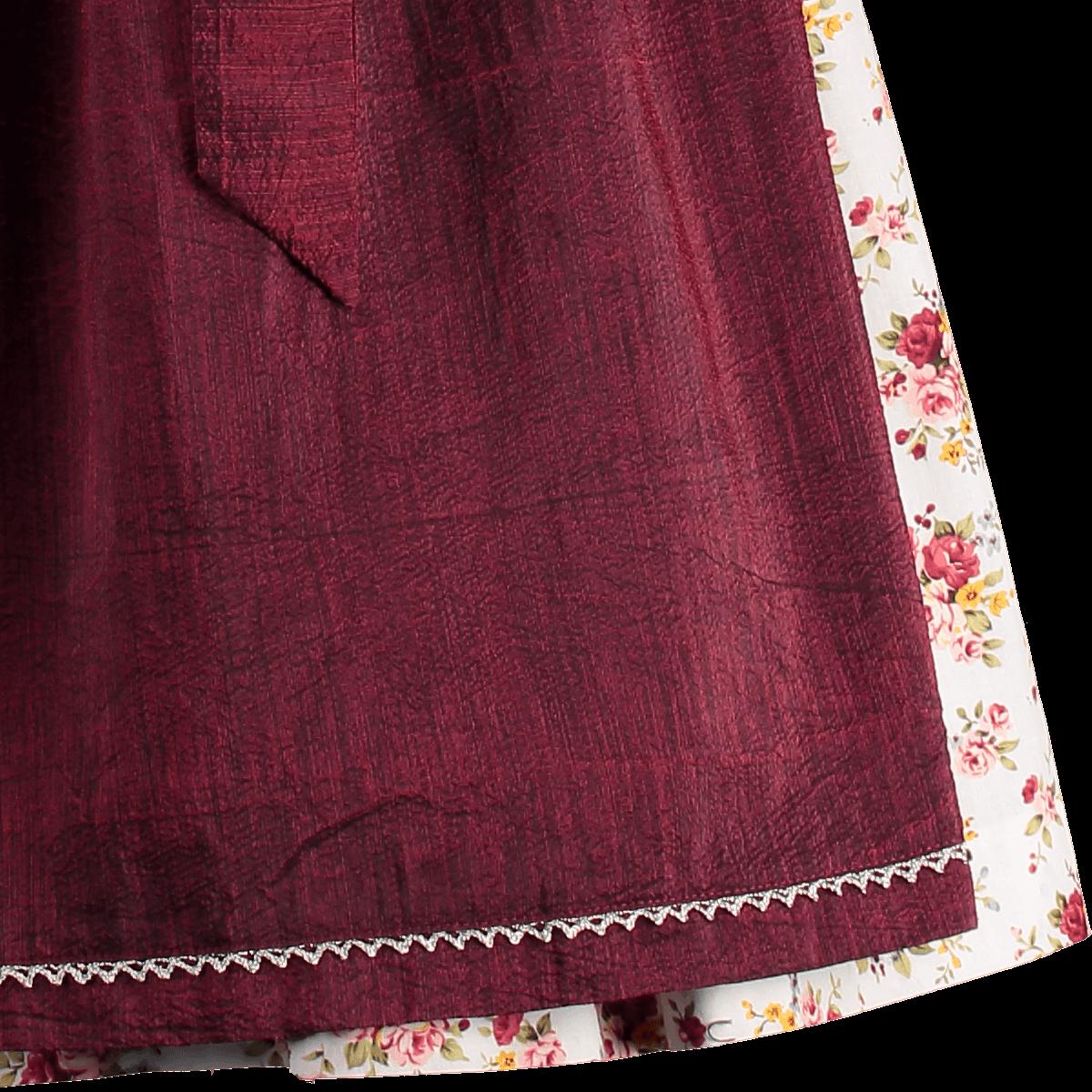Spieth   Wensky Mini Dirndl weiß rot bordeaux, Honey   Alm-Fashion 0fc894e3a0