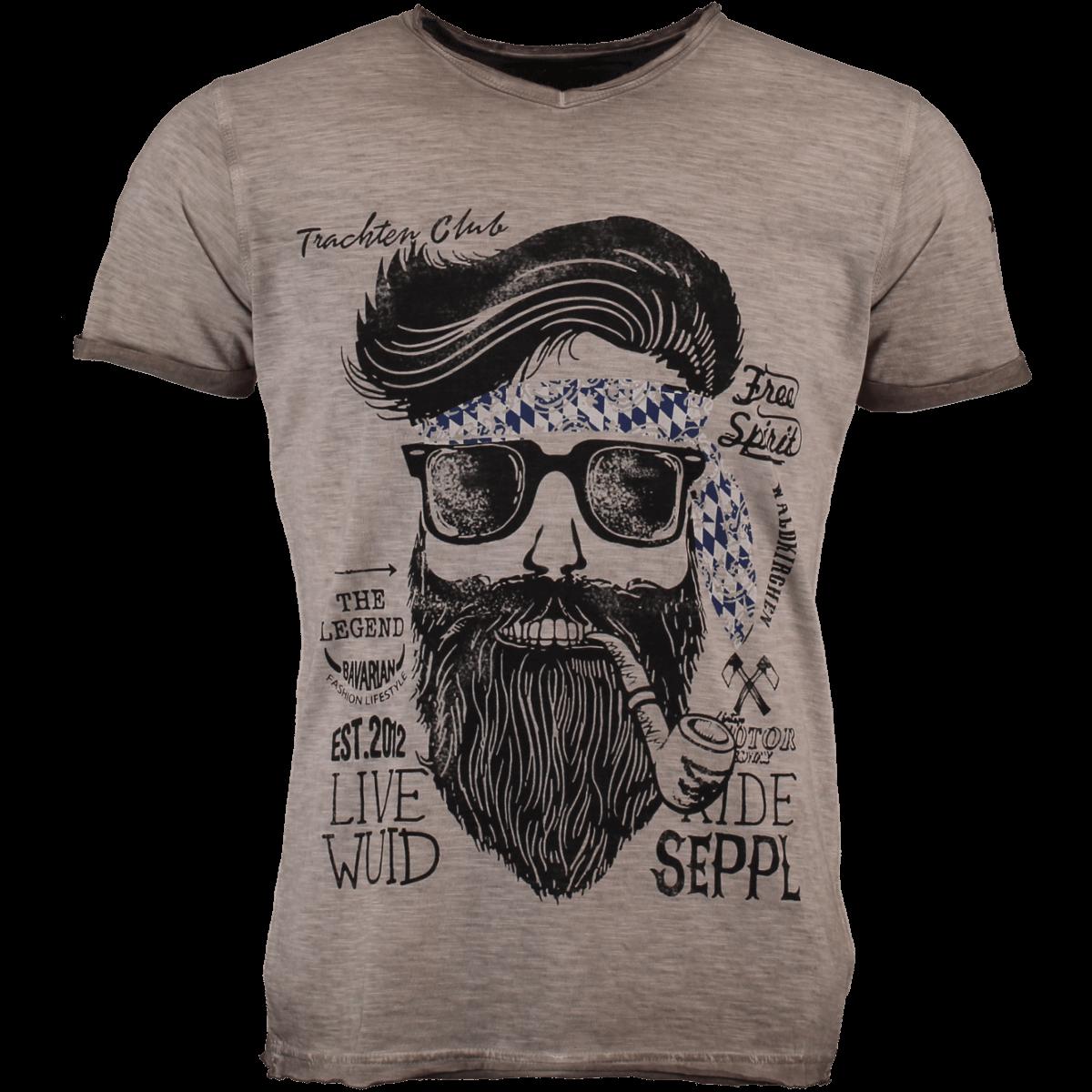 Bavaria Trachten Shirt Fashion BeigeAlm Hangowear Herren T Kenny IfYb7gy6v