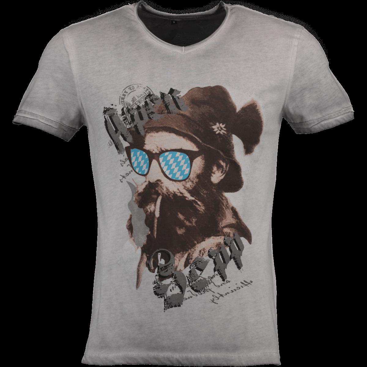 HangOwear Herren Trachten T Shirt Beppi grauoliv