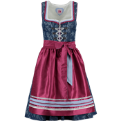 Spieth & Wensky Mini Dirndl Hollywood dunkelblau/ malve