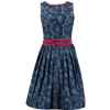 Spieth & Wensky Mini Dirndl Hollywood dunkelblau/ malve, 2