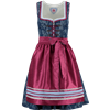 Spieth & Wensky Mini Dirndl Hollywood dunkelblau/ malve, 3