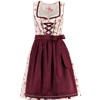 Spieth & Wensky Mini Dirndl HOney weiß/ rot/ bordeaux