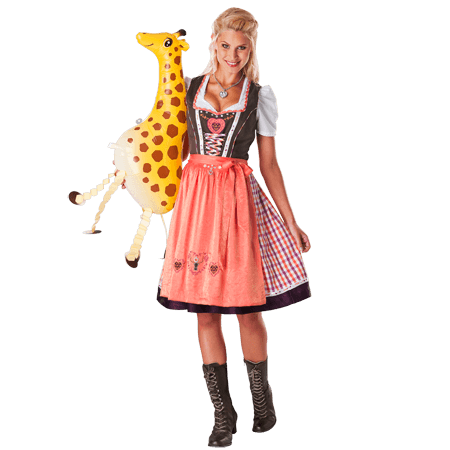 Dirndl Shop - Spieth & Wensky: Nevana Dirndl braun orange mango