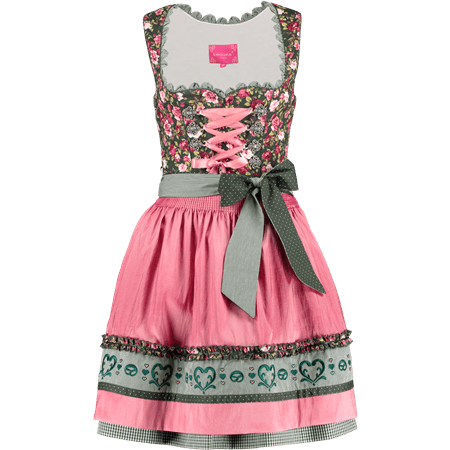 Krüger Madl: Dirndl DREAM OF ROSES kurz