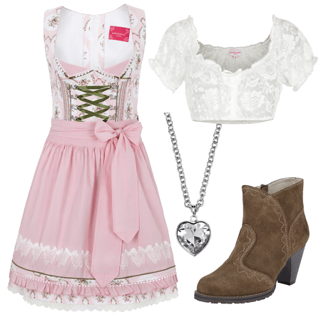 Dirndl Set Princess, 4-teilig