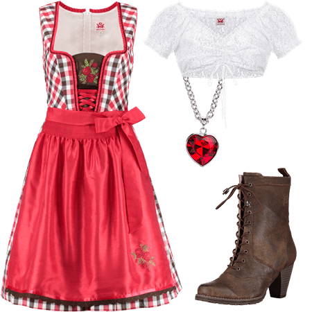 Dirndloutfit Blanchette rot
