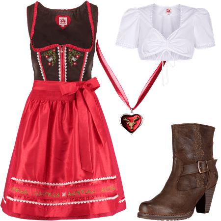 Trachtenoutfit B�rbel rot