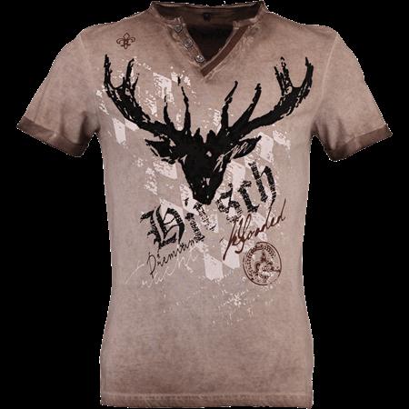HangOwear Herren Trachten T Shirt Avon braun
